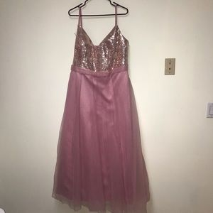Rose Gold & Pink Sequin Tule Dress NWT